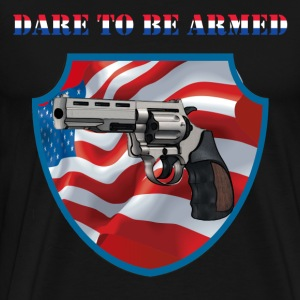 Dare To Be Armed Mens 3XL/4XL Tee (Chest Insigni - Men's Premium T-Shirt
