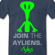 Design ~ Join The Ayliens Tee (Neon Green/Silver)