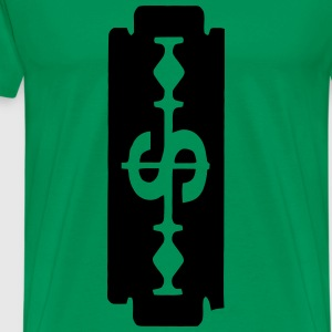 Dollar Sign Razor Blade - Men's Premium T-Shirt