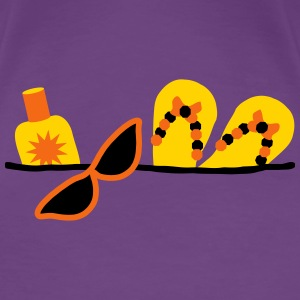 beach essentials fun design by patjila2_2013 Women's T-Shirts - Women's Premium T-Shirt