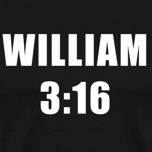 William 3:16 T-shirt - Men's Premium T-Shirt