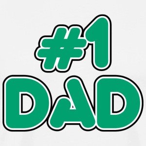 #1 Dad T-Shirt - Men's Premium T-Shirt