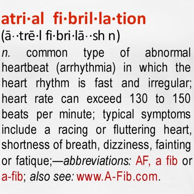 A-Fib definition+