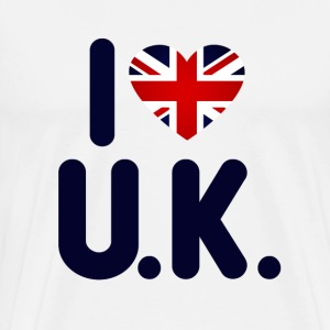 I love the UK - Men's Premium T-Shirt