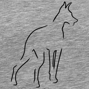 Doberman Outline - Men's Premium T-Shirt