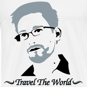Edward Snowden: Travel the world T-Shirts - Men's Premium T-Shirt