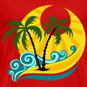 summer beach palms - Men's Premium T-Shirt