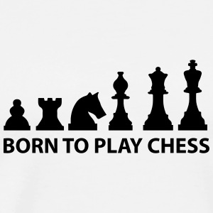 born to play chess T-Shirts - Men's Premium T-Shirt