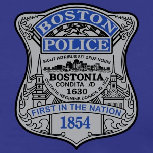 Boston Police Badge Small - Men's Premium T-Shirt