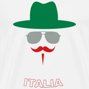 Italy Fan with mustache T-Shirts - Men's Premium T-Shirt