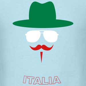 Italy Fan with mustache T-shirts - T-shirt pour hommes