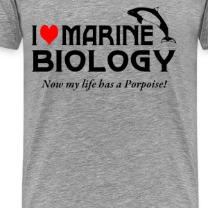 I Love Marine Biology - Men's Premium T-Shirt