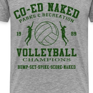 CO-ED Naked Volleyball - Men's Premium T-Shirt
