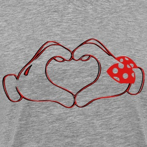 mickeys hand heart love T-Shirts - Men's Premium T-Shirt