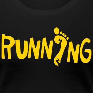 running with lightning fast feet foot Women's T-Shirts - Women's Premium T-Shirt