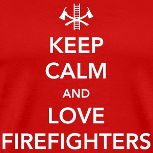 Keep Calm and Love Firefighters T-Shirts - Men's Premium T-Shirt
