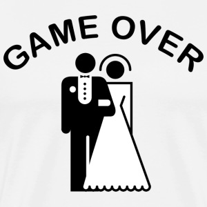 Game Over Just Married T-Shirt - Men's Premium T-Shirt