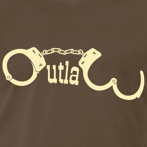Outlaw in handcuffs Shirt - Men's Premium T-Shirt