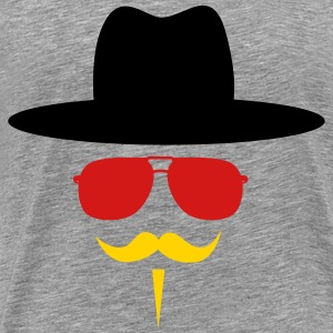 Germany Fan with mustache T-Shirts - Men's Premium T-Shirt