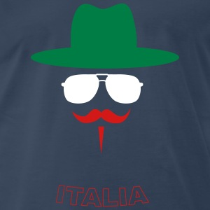 Italy Fan with mustache T-shirts - T-shirt premium pour hommes