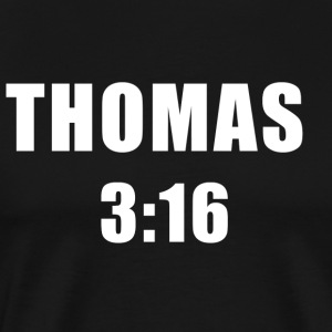 Thomas 3:16 T-shirt - Men's Premium T-Shirt