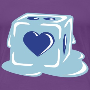 Ice Cube With Heart Women's T-Shirts - Women's Premium T-Shirt