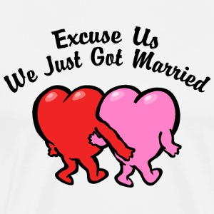 Just Married T-Shirt - Men's Premium T-Shirt