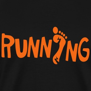 running with lightning fast feet foot T-Shirts - Men's Premium T-Shirt
