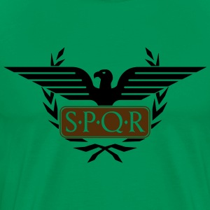 Laurel wreath eagle Aquila SPQR Rome Shirt - Men's Premium T-Shirt