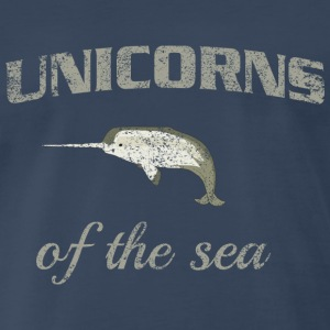 Narwhal. Unicorns of the Sea T-Shirts - Men's Premium T-Shirt
