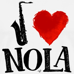 I Heart New Orleans (remix) by Tai's Tees - Men's Premium T-Shirt