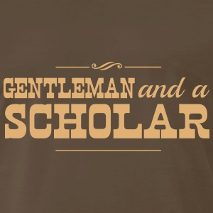 Gentleman and a Scholar T-Shirts - Men's Premium T-Shirt