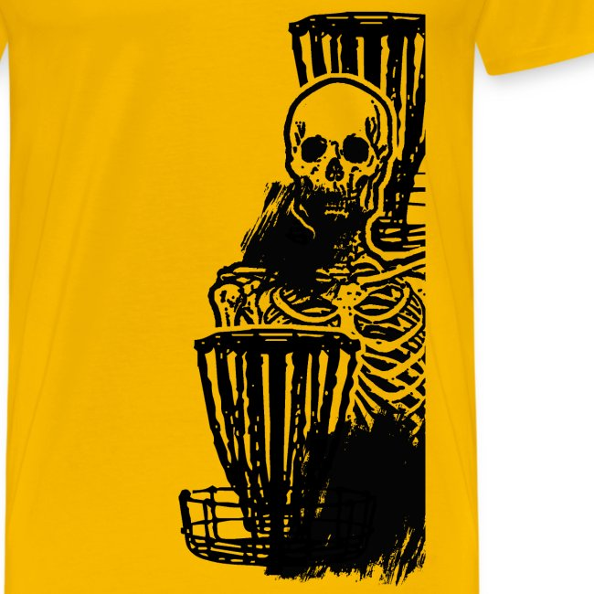 Disc Golf Until Death Skeleton - Men's Shirt