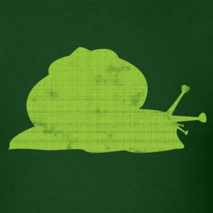 Cute Green Snail T-Shirts - Men's T-Shirt