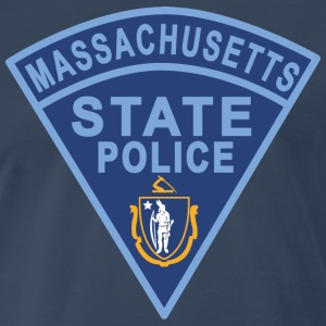 Massachusetts State Police Patch T-Shirts - Men's Premium T-Shirt