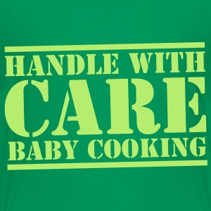 HANDLE with CARE BABY COOKING! Kids' Shirts - Kids' Premium T-Shirt