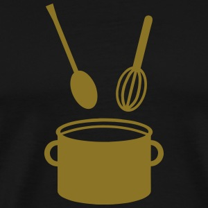 Cooking Pot - Spoon  T-Shirts - Men's Premium T-Shirt