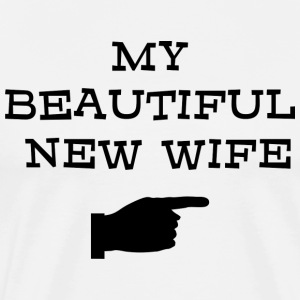 Just Married My Beautiful New Wife T-Shirt - Men's Premium T-Shirt
