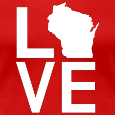 WISCONSIN LOVE Women's T-Shirts