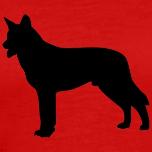 german shepherd silhouette T-Shirts - Men's Premium T-Shirt