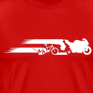 Motorcycle tail evolution Shirt - Men's Premium T-Shirt