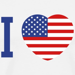 I love America heart flag T-Shirts - Men's Premium T-Shirt