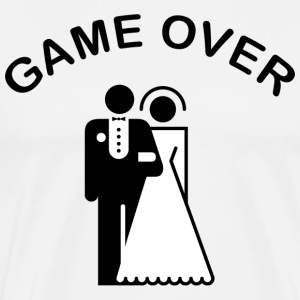 Just Married Game Over T-Shirt - Men's Premium T-Shirt
