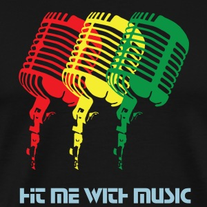 Reggae-Colored Microphones - Men's Premium T-Shirt