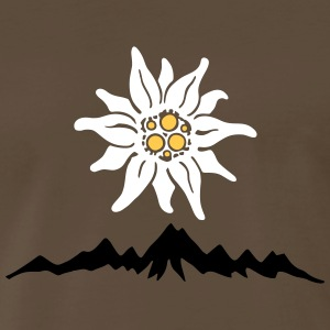 Mountains Edelweiss T-Shirts - Men's Premium T-Shirt