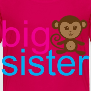 Monkey Big Sister - Toddler Premium T-Shirt