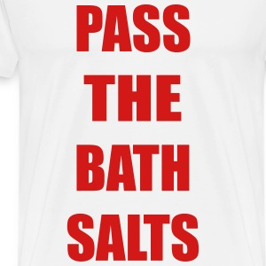 Pass The Bath Salts Funny Vector Design T-Shirts - Men's Premium T-Shirt