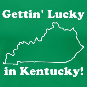 Gettin' Lucky in Kentucky Women's T-Shirt - Women's Premium T-Shirt