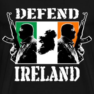 Hooligans with Irish Flag - Men's Premium T-Shirt