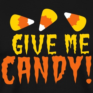 GIVE ME CANDY! HALLOWEEN Candy corn design T-Shirts - Men's Premium T-Shirt